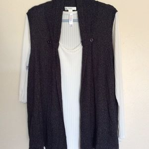 CJ Banks Black Sweater Vest